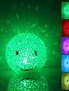 Laecheln Gesicht Shaped Colorful Light Crystal LED-Nachtlicht Lampe (3xLR44)