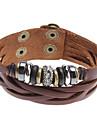 Z&X®  Multi Cross Beads Rivet Leather Bracelet