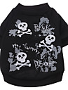 Dog Shirt / T-Shirt Black Spring/Fall Skulls
