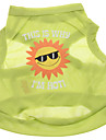 Polyester Happy Sun Pattern Vest for Dogs (Green,XS-L)