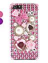 아이폰 5/5S를위한 모조 다이아몬드 스타일의 진주 디자인 단단한 케이스
