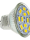 6W GU4(MR11) LED-spotlights MR11 12 SMD 5730 570 lm Varmvit DC 12 V