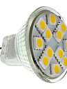1.5W GU4(MR11) Точечное LED освещение MR11 12 SMD 5050 160 lm Тёплый белый DC 12 V