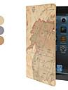 kartta kuvio pu nahka tapauksessa w / jalusta iPad mini 3, ipad mini 2, iPad Mini (eri värejä)