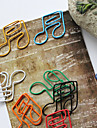 clips coloridos do estilo semiquaver de papel (cor aleatoria, 10-pack)