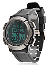 Men's Air Pressure LCD Digital Rubber Band Wrist Watch (Black) Cool Watch Unique Watch
