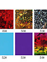1PCS Laser Foil Nail Decorations Starry Nail Stickers No.49-54(130x4.5x0.1cm,Assorted Colors)