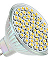 3W GU5.3(MR16) Focos LED MR16 60 SMD 3528 250 lm Blanco Calido DC 12 V