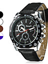 Heren Horloge Kwarts Dress horloge PU Band Polshorloge