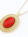 Aleacion de oro collar plateado Patron Gem (colores surtidos)