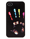 Colored Hand Prints Pattern Hard Case for iPhone 4/4S