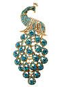 azul broche de pavão das mulheres