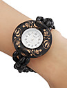 Women's Wood Analog Quartz Bracelet Watch (Black) Cool Watches Unique Watches