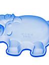 porco em forma de bolo de molde de silicone (cor aleatória)