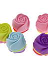 모양의 다채로운 실리콘 미니 컵 케이크 금형 장미 (20PCS)