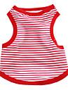 Chien T-shirt Rouge / Bleu Vetements pour Chien Ete Nautique