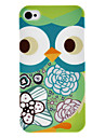 Cockeye Owl Pattern IMD Technology Hard Case for iPhone 4/4S