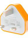 Tre-pinners adapter for mobiltelefoner (assorterte farger, UK PLUG, 5V 1A)