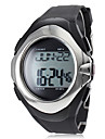 Unisex Calorie Counter Heart Rate Monitor Style Silicone Digital Automatic Wrist Watch (Black)