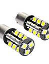 1142 / S23 5W 6000-6500K 350LM 27x5050SMD LED White Light Car Lamps (DC 12V, 1-Pair)