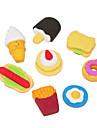 Cartonn Cute Fast Food Eraser Pattern (4τεμ, τυχαία σχήματα)
