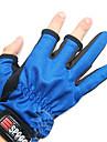 Random Color двумя пальцами Рыбалка Anti-Slip перчатки