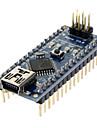 Arduino用 Nano V3.0 AVR ATmega328 P-20AU モジュールボード(USBケーブル付き、ブラック)