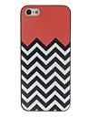 noir et blanc vagues cas de couleur de dessin de patron noir d'armature dure de PC pour l'iphone 5/5s