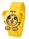 Children\'s Tiger Style Bendable Plastic Band Slap Wrist Watch