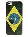 retro estuche protector modelo de la bandera brasil duro para el iphone 5/5s