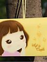 porta cartao tema menina (cor aleatoria, por 12 cartoes)