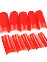 500PCS Red Pure Color cobertura completa frances pontas das unhas