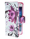 Para Samsung Galaxy Capinhas Porta-Cartao / Com Suporte / Flip / Estampada / Magnetica Capinha Corpo Inteiro Capinha Flor Couro PU Samsung