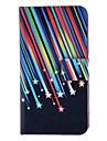 Kleurrijke Meteor Patroon Full Body Case met Card Slot en Ingebouwde Matte PC Back Cover voor iPhone 4/4S