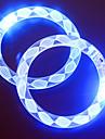Adjustable LED Flashing Bracelet Transparent Colorful Concert Party Prop(Random Pattern)