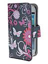 Vlinders en cirkels Patroon PU Leather Case met Magnetic Snap en Card Slot voor Samsung Galaxy S3 mini I8190