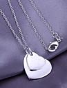 coeur en argent modèle pendentif (pendentif seulement)