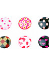 Shivering Resin Button Sticker (6 PCS)