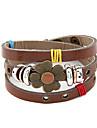 Bracelet Vintage multicouche de fleur en cuir de trefle (couleurs assorties)