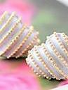 Korean jewelry earrings earrings peach heart love stripes (random color)