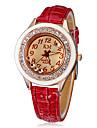 Mujeres Diamante Dial Ceramic PU Band cuarzo reloj de pulsera analogico (colores surtidos)