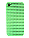 Solid Color Mesh Pattern PC Hard Case for iPhone 4/4S (Assorted Colors)