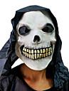 Mascara Caveira Esqueleto com tampa da cabeca para festa a fantasia de Halloween