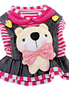 Dog Dress / Clothes/Clothing Red / Rose Winter Stripe Zebra