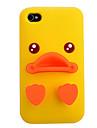 Желтый силиконовый чехол для iPhone Duck 4/4S (разных цветов)