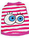 Cute Stripes Eyes Pattern Vest for Pets Dogs (Assorted Colors, Sizes)