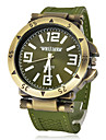 Men\'s Watch Military Green Bronze Silicone Strap