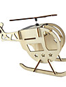 DIY Solar Powered Wooden Helicopter Toy