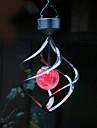 Solaire Couleur LED Changement de Saturne Vent Spinner Hanging Spiral Lumiere