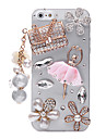 Ballet Sachets Pattern Metal Jewelry Back Case for iPhone 5/5S